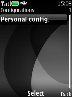 Select Personal config.