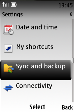 Go to Settings - Sync and backup