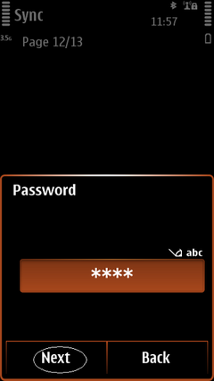 Fill your password