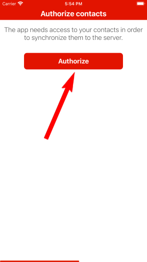 Authorize contacts